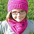 Ensemble snood + bonnet pour lily-rose