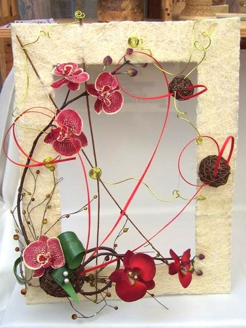 Tableau floral cr ation brigitte certaines fournitures - Creation tableau photo ...