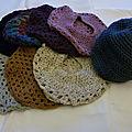 Bonnets et bérets en crochet