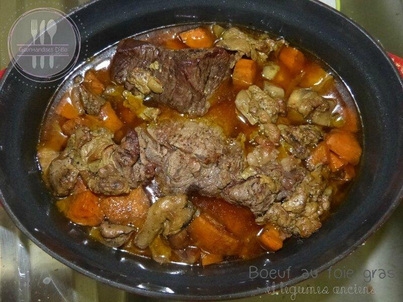 Boeuf au fois gras et légumes anciens (1)