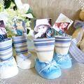 chaussons bleus porte-photo 2