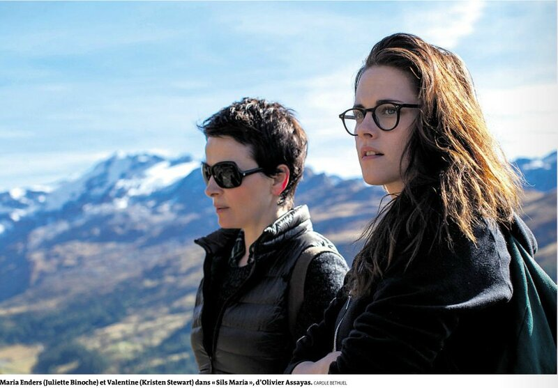 Juliette Binoche et Kristen Stewart dans Sils Maria Le Monde 20 août 2014