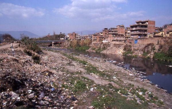 katmandou ville pollué