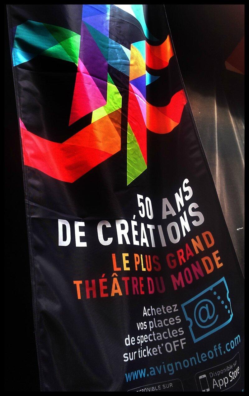 Banderole du Festival OFF 2016 au Grand Pavois