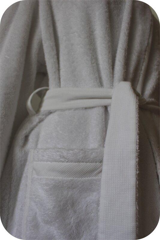 Peignoir détail ceinture