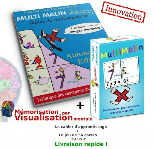 Une m thode maline pour retenir les tables de for Methode apprentissage table de multiplication