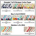 Blog hop met designe series paper.