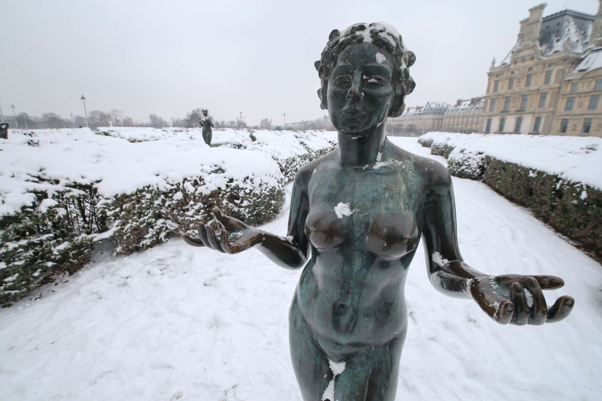 Paris sous la neige. © Photo Michel Stoupak. Sam 19.01.2013, 11:01.