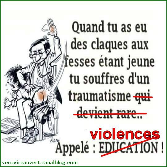 education fessée violences