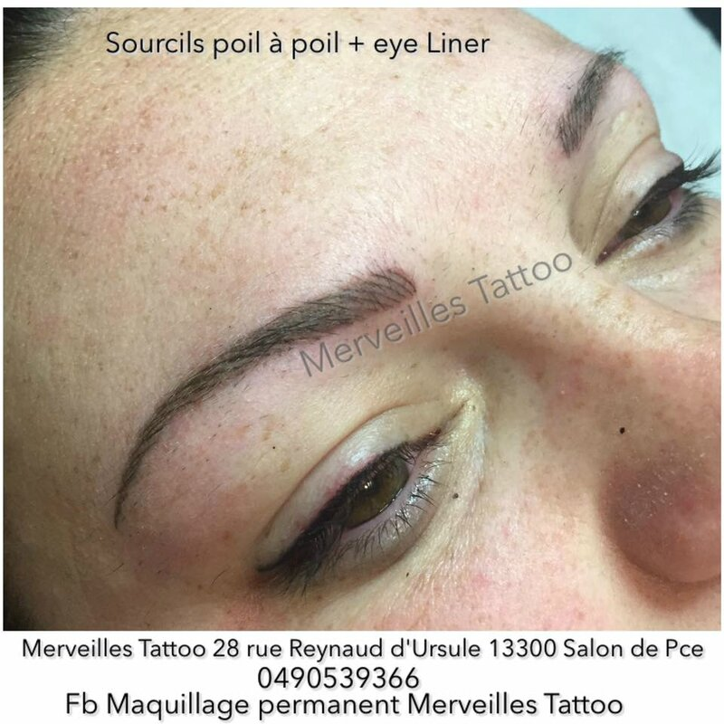 maquillage permanent des sourcils m thode poil poil ombrage r alis par vanessa eye liner. Black Bedroom Furniture Sets. Home Design Ideas