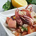 Salade de calamars à la grecque, cette cuisine que j'aime