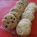 Cookies aux smarties ou aux pépites de chocolat