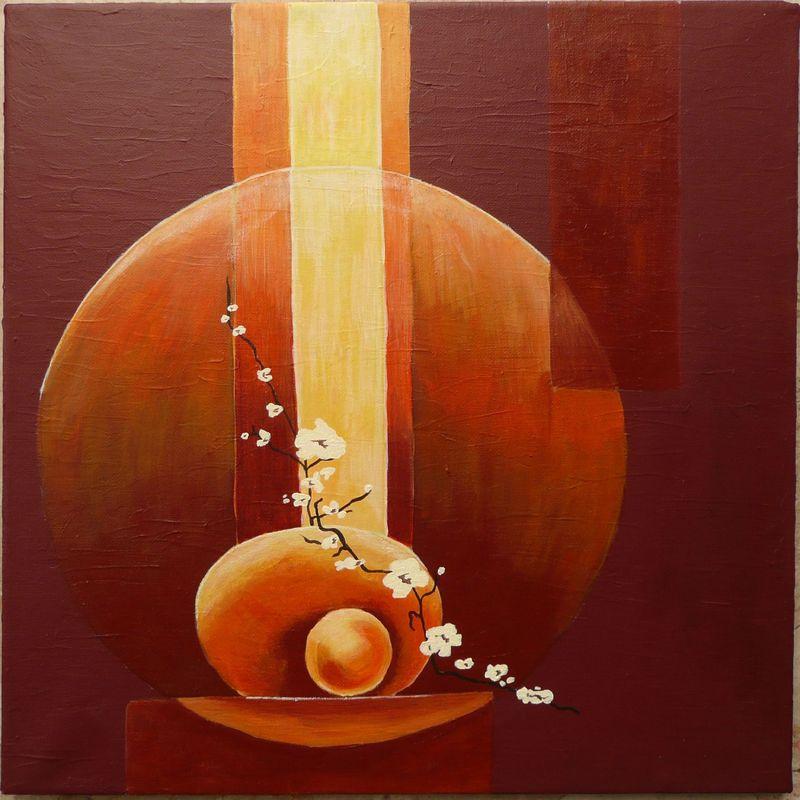 Zen les cr ations d 39 h l ne for Peinture chambre zen nature