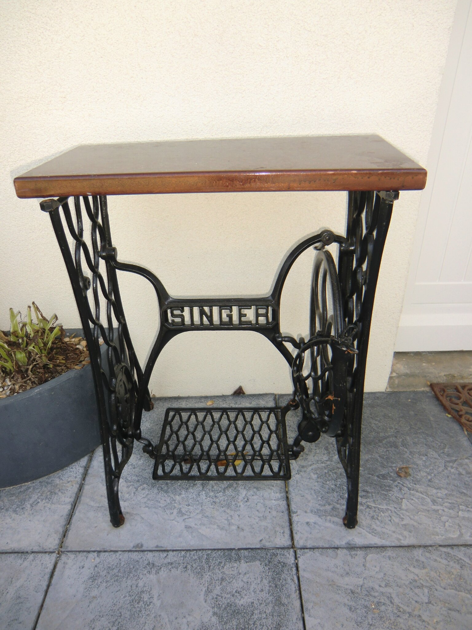 Table a couture singer table de lit - Vieille machine a coudre singer ...