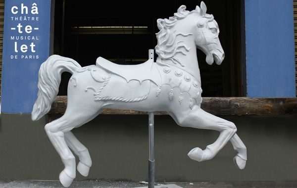 Sculpture Cheval de manège