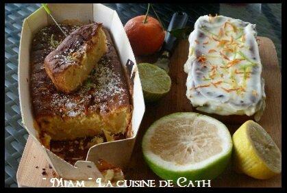 """ღ """" Miam """" Mascarpone et Agrumes se font un Cake"""
