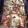 Gourmandises du dimanche- c'est la rentrée alors... lasagnes d'amour à la bolognese