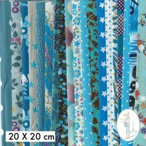 lot-coupon-tissu-pas-cher-turquoise