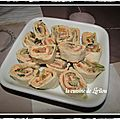 Wraps aux deux saumons et poireaux