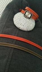 bracelets cuir et coussin cerf 18