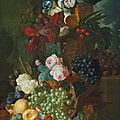 Jan van Os (Middelharnis 1744-1808 The Hague), Still life of flowers and fruit