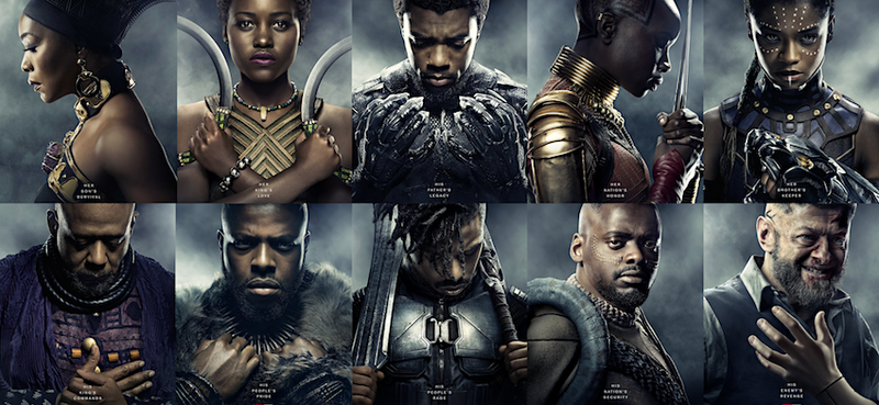 BLACK PANTHER CHARACTER POSTERS on POPCORNX