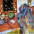 Matisse - nature morte au tapis rouge