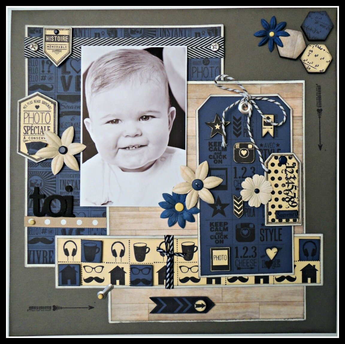 Inspiration Géométrie Bleue