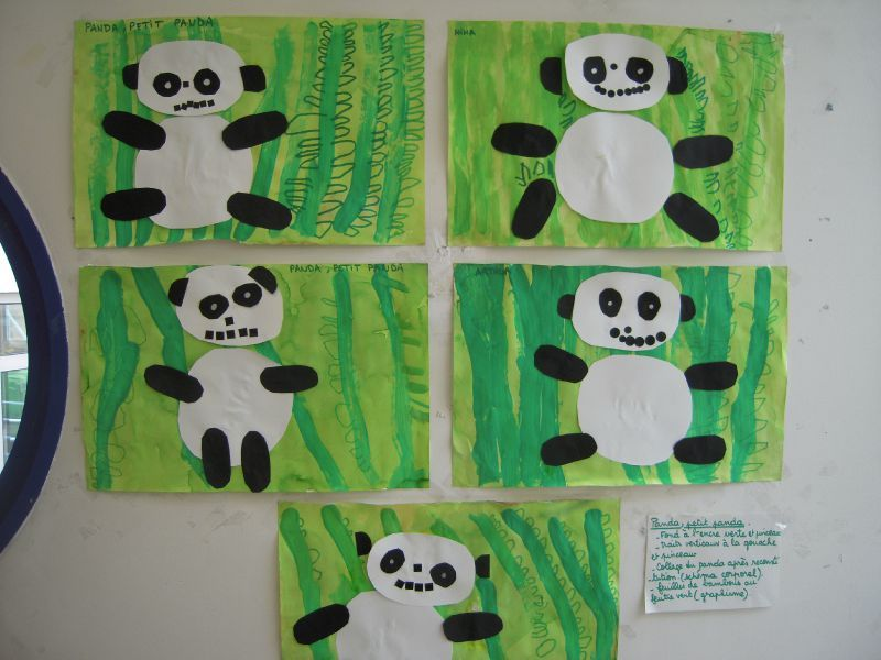 Panda petit panda chez mes petits et moyens - Coloriage panda maternelle ...