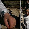 Bracelet en Liberty pour une Première Communion