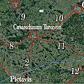 Voies romaines via romana cœsarodunum (tours)