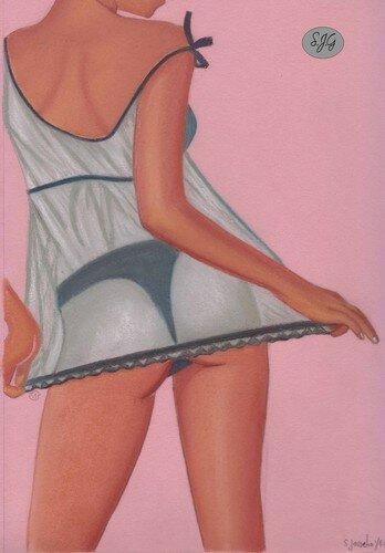Petite lingerie au pastel