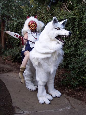 Princess_Mononoke_and_Wolf_by_LilleahWest