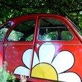 Création, découpe et application de fleur vinylique sur véhicule