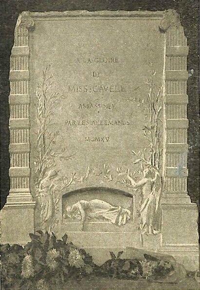 1916 Projet Paul Gasq Monument Cavell