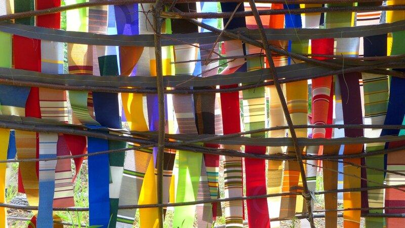 vitrail multicolore aéré yurtao