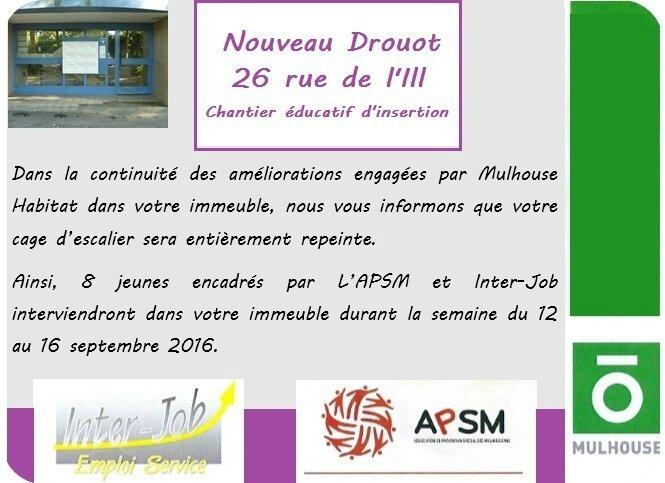 Quartier Drouot - Chantier éducatif d'insertion