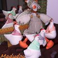 Oie et poules de Pâques
