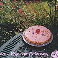 Gateau rose de printemps