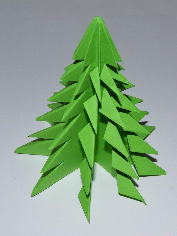 For t de sapins origami les cartes de mlor - Sapin de noel en origami ...