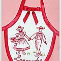 Tablier de bouteille brodé Languedoc