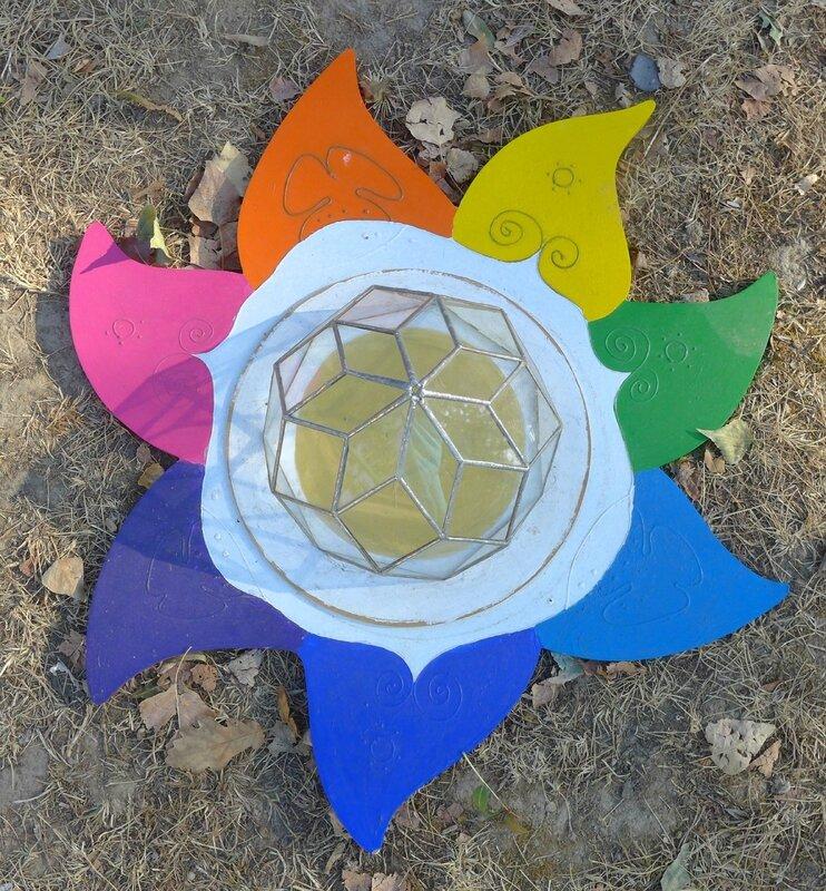 fleur de bois au sol