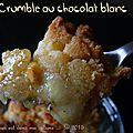 Crumble banane-chocolat blanc