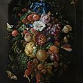 Jan davidsz. de heem, festoon of fruit and flowers, 1660 - 1670