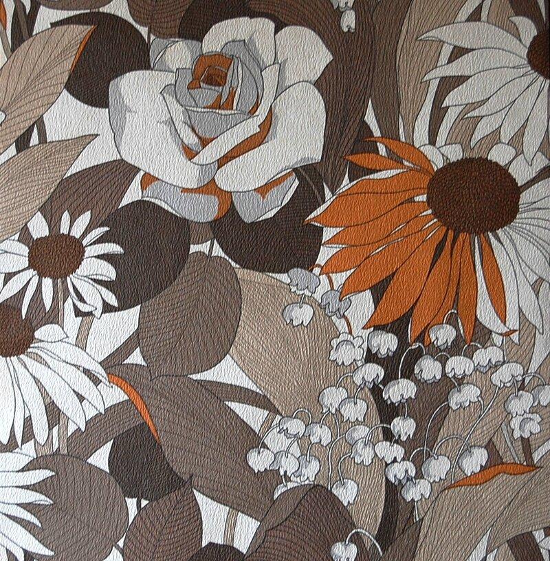 03 papier vintage fleurs
