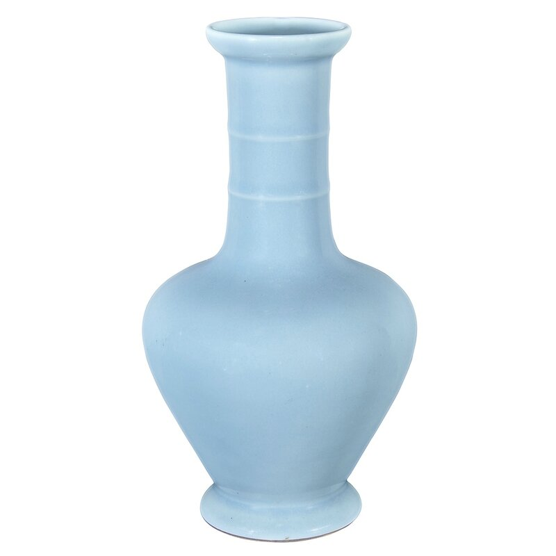 Chinese Sky Blue Glazed Porcelain Vase, Yongzheng Mark and of the Period1