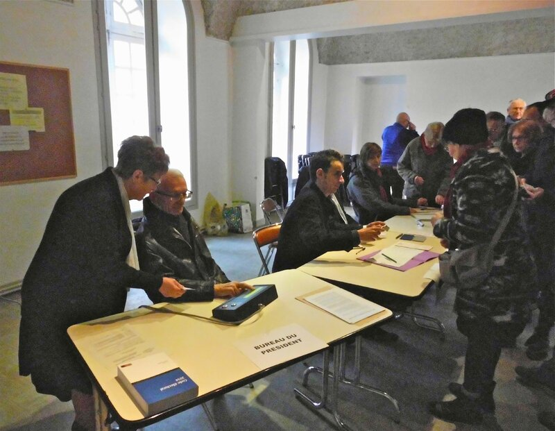 bureau de vote 23 mars 2014 St-Chamond