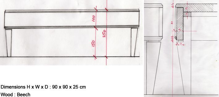 croquis low table