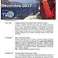 Agenda de la mer : décembre 2017 - agenda of the sea : december 2017