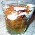 Verrine aux pommes et pain d'épice à l'agar agar